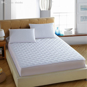 Wholesale-New Arrival hot sale solid color hotel quality bed mattress protective cover with fillings pad mattress topper #10