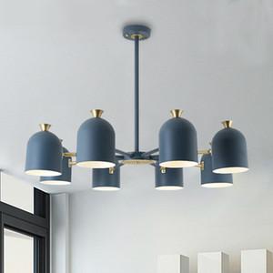 personalidad creativa nórdica droplight moderna de color contraído lámparas y linternas comedor Makaron vivir droplight habitación