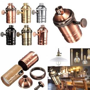Lâmpada de Edison Vintage soquete E26 / E27 Screw Bulb base da lâmpada de alumínio Titular Retro industrial Pendant Fittings Casquilhos de fixação SY0463