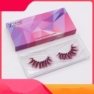 9D Mink cílios coloridos Mink Lashes pestana Extensão dramáticas falsos cílios postiços cílios Ferramentas de maquiagem Acessórios RRA1928