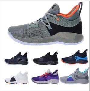 Ucuz PG2'dir 2S Beyaz Siyah Ev Spor Sneakers Boyutu 40-46 için 2020New Yüksek Kalite Paul George, 2 PG II Men Basketbol Ayakkabı