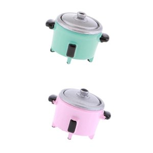 2 Pack Mini Electric Rice Cooker Toy for 1:12 Doll House Miniature Cookware Accessory