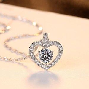 S925 collar de plata esterlina colgante de moda coreana exquisito salvaje femenino amor accesorios