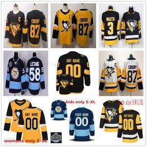 Homme personnalisé Femmes jeunesse Pittsburgh Penguins Hockey Jerseys Bryan Rust Dominik Kahun Juuso Riikola Nick Bjugstad Justin Schultz Tristan Jarry