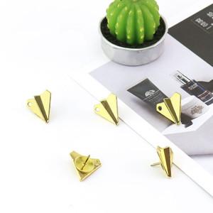 Goupille de mur de liège de goujons de mur de liège d'avions en métal 12pcs / set en métal de pouce 19 * 18mm pour la maison d'école de bureau