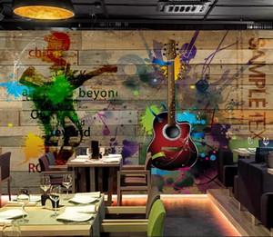 3D Stereoscope Mural Living Room TV Sofa Backdrop Wall 3D Home Decor Board guitar Wall paper Sticker Custom Wall 3D Mural
