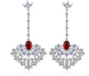 alta qualità più colore dimaond crystal drops 925 silver lady's earings 27.67ujjdsd