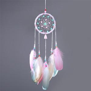Colorido decorativo Dream Catcher colgante de pared Dreamcatcher colgante creativo coche colgante niños habitación hogar campanas de viento decoraciones