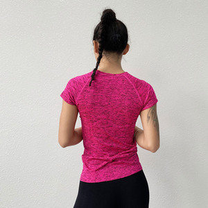2020 new T-shirts Women Yoga Gym Compression Tights Sportswear Fitness Quick Dry Running Tops Body Shaper Tee Shirts