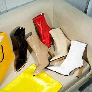 Botines de tacón alto de cuero de diseño barato botas para la nieve de punto de las mujeres botines botas de invierno de las señoras al por mayor de botas de la mejor calidad