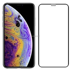 Completa Tampa de vidro temperado para Se 2020 iPhone Mate 11 Pro Max Xr Xs Samsung A20S A10 Huawei 30 P30 Lite Lg V60 protetor de tela nenhum pacote
