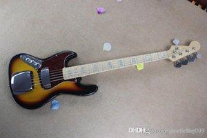Livraison gratuite Banjo gaucher guitare basse électrique JAZZ BASS couleurs du soleil couchant guitare