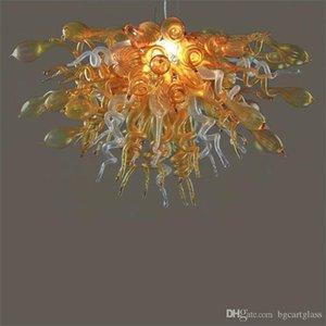 Led Kaynak% 100 Uzun Avizeler Chihuly Stil Ağız Yatak Odası Dekor için 110v-240v LED Ampuller Art Glass Avize ile Glass Üflemeli