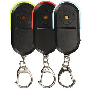 Alarme sem fio Anti-Perdido Key Finder Chaveiro Locator Whistle Som LED Keychain chave Titular Jóias