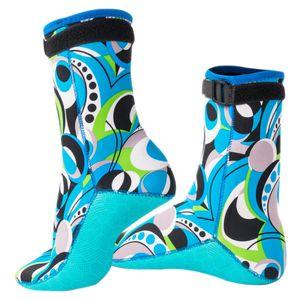1 par de neopreno de 3 mm Zapatos Fin calcetines de agua Botas botines de playa para el buceo, snorkeling, natación deportes acuáticos