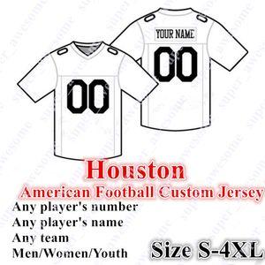 Custom Houston Jersey Jersey Watson 10 Hopkins 23 Hyde 15 Fuller V 12 Stills 99 Watt 59 Merclus 57 Scarlett Cunningham Oilers Blue