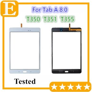 20PCS DHL Touch Screen Digitizer Glass Lens with Adhesive Tape for Samsung Galaxy Tab A 8.0 T350 VS T351 T355 Replacement Parts