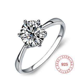 neueste Ring-Designs für Mädchen 925 Sterling Silber Solitärringe Schmuck Kubikzircon Verlobungsringe China Großhandel