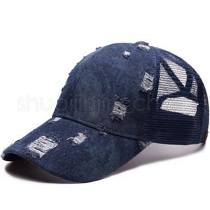 Moda Coda di cavallo berretti da baseball Donna Denim sfera Cappelli Ragazze Sport Camping Hat Lady Viaggi Brach Cappello per il sole TTA1210-14