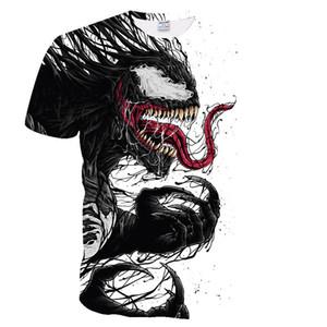 BIANYILONG 2020 hombres de la camiseta más nueva Venom Marvel camiseta 3D camisetas estampadas Hombres Mujeres camiseta informal camiseta de la aptitud tes de las tapas tamaño asiático