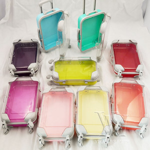 2pcs all'ingrosso ciglia scatola di imballaggio scatola bagagli ciglia nuove mini carrello ciglia ciglia scatole di imballaggio personalizzano casi di stoccaggio vuoti DHL DHL