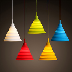 Support de lampe en silicone 220 V E27 Nordic lampes suspendues moderne bricolage Lustres Vintage Design Luminaire Abat For Living Room Bar