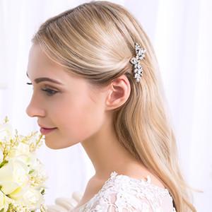 Accessori Clips Miallo Moda Sposa Barrettes dei capelli di nozze chiaro gioielli di cristallo Donne ornamenti Capelli Forcella HS-J3517