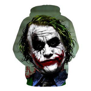 2019 new Hot Sale Popular Movie Men Women Long Sleeve Hoodies 3D Print Batman And Joker Sweatshirt Harajuku Pullover Brand Tops