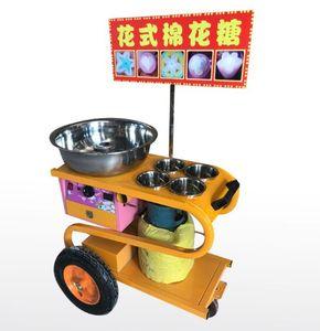 Satılık Stereo Tipi Ticari Gaz Pamuk Şeker Makinesi Sepeti Şeker Ipi Maker ile Çiçek Pamuk Şeker Makinesi