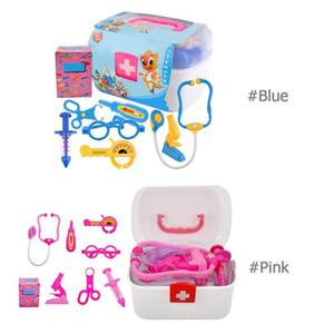 Çocuk Doktor Hemşire Oyuncak Oyna Pretend Set Taşınabilir Bavul Tıbbi Kiti Çocuklar Eğitici Rol Oynamak Klasik Oyuncaklar