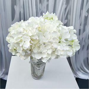 Wholesa 46cm 5heads fiori artificiali decorazioni di nozze a casa decorazione floreale Hydrangea bouquet di seta soggiorno a casa camera da letto di fiori