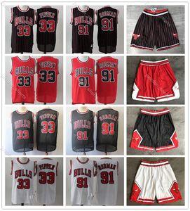 Michael Jersey NCAA Scottie 33 Pippen Retro Dennis 91 Rodman College Men Basketball Jerseys