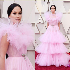 2.020 Tamaño Oscar Pink Plus vestidos de noche de cuello alto Tieres Prom Vestidos vestido de quinceañera Vestido de Fiesta formal del vestido de la celebridad Abendkleider