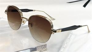 Neue Luxus-Mode-Sonnenbrille 1065 Design retro runde Metallhalbrahmen einfach populären Stil hochwertige Marke UV 400 Objektiv eyewear Großhandel