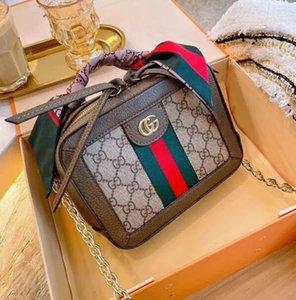 Caliente 2020 nueva calidad señoras hombro pequeño bolso cuadrado clásico mensajero bolsa moda seda bufanda bolso cartera tamaño: 22 cm M068