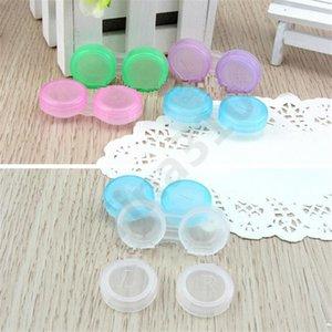 Cor lentes de contato Caso dupla Box Duplo Lens Case Imersão caixa de Make-up Caso 1000pcs T1I1023