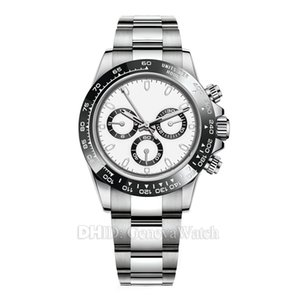 Luxury Mens Orologi 116500LN 116500 Designer Guarda Montre De Luxe movimento automatico da polso in acciaio 316L lunetta in ceramica No cronografo