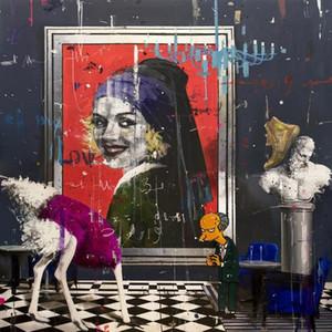 Angelo Accardi Opere Just Smile Home Decor Artigianato / HD Stampa della pittura a olio su tela di canapa di arte della parete della tela di canapa Immagini 200514