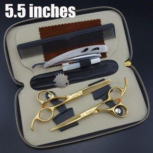 Smith chu Professionali Parrucchiere Forbici impostato 62HRC Straight & Diradamento taglio con pettine, vestiti, olio S017