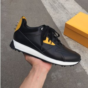 Fendi 19ss superiore FD FUN lusso scarpe di progettista della scarpa da tennis del cuoio genuino del regalo degli uomini delle donne Racer Hot vendita sport casuali hococal Nuovo