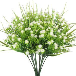 Faux Bébé Souffle Faux Gypsophila Arbustes Simulation Verdure Buissons Centres De Mariage Table Arrangement Floral Bouquet Filler Blanc