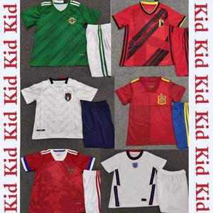 19 nouveaux kit 20 enfants Coupe d'Europe en jersey de football enfant maison Suède Espagne Italie Belgique Irlande du Nord Angleterre de football enfants chemise de football Jersey