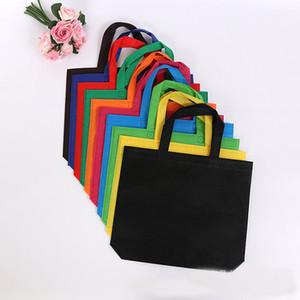 20pcs tessuto non tessuto shopping bag biodegradabili sacchetti di organza sacchetti di imballaggio riciclati personalizzati sacchetto confezione di vendita