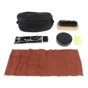 Shoe Polisher With Enamel Brush Bristles Multifunctional Cleaning Cloth