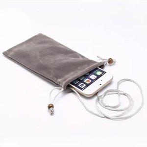 "Cotton velvet Cell Phone bag shoulder strap bag Wallet Pouch Neck Strap Handbag Leisure cloth bag fit for 4.8-10"" phone or Pad"