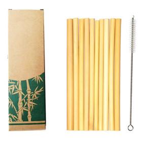 100% di bambù naturale di paglia 20 centimetri riutilizzabile della cannuccia della eco-friendly bevande cannucce spazzola più pulita per gli strumenti di bar a bere festa di nozze