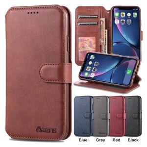 PU billetera de cuero de caja del teléfono para el iPhone 11 Pro X XR XS Max 6 7 8 Plus de becerro Samsung Galaxy S20 S10 S9 Caso Ultra Lite Plus Nota 10 Cubierta