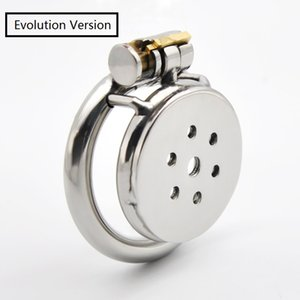 Evolution Version Male Stainless Steel Chastity Device Bondage Locking Cock Cage BDSM Toy Q231