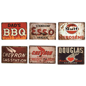 Motor Oil Cocktail Chic Metal Signs Poster retro metal tin sign Car Gas Station Pub Bar Garage Vintage Wall Decor