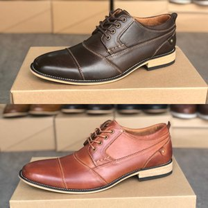 Top Kalbsleder Männer Kleid Schuhe Gradient Farben Luxus Leder Oxfords gute Qualitätsmänner Geschäft im Freien Kleid Schuhe Casual Schuhgröße 39-47